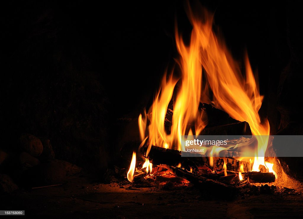 Log Feuer : Stock-Foto
