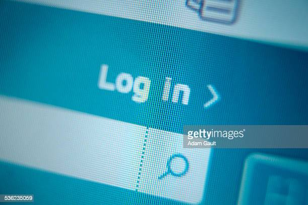 log in symbol - log on stock photos and pictures