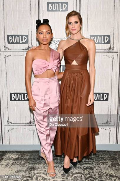 Logan Browning and Allison Williams visit Build to discuss The Perfection at Build Studio on May 23 2019 in New York City