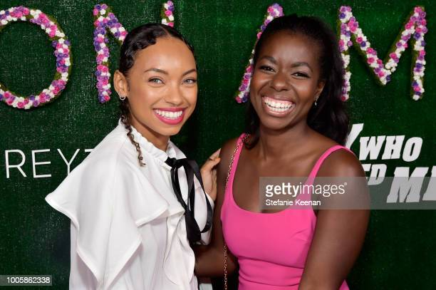 Logan Browning and Camille Winbush attend Adina Reyter Friendship Bracelet Launch at Soho House on July 26 2018 in West Hollywood California
