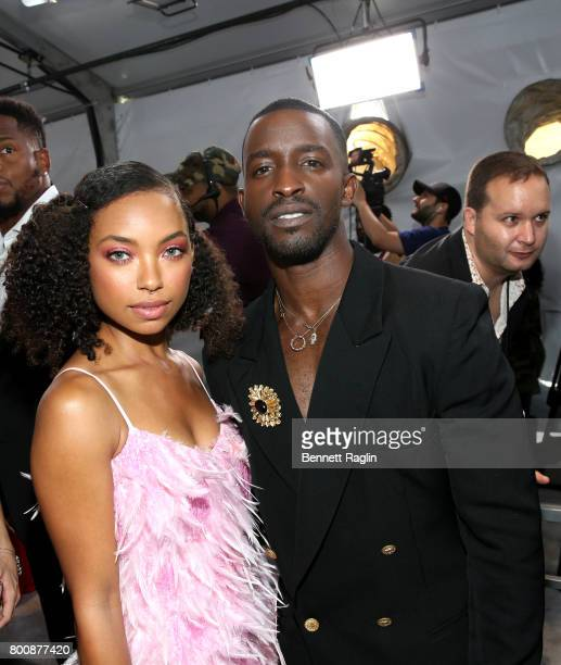 Logan Browning and Elijah Kelley at the 2017 BET Awards at Staples Center on June 25 2017 in Los Angeles California