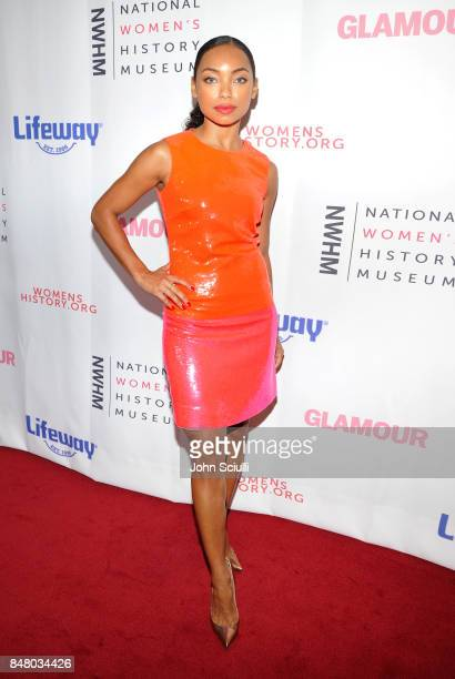 Logan Browning at the Women Making History Awards at The Beverly Hilton Hotel on September 16 2017 in Beverly Hills California