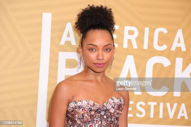 Logan Browning attends American Black Film Festival Honors Awards Ceremony at The Beverly Hilton Hotel on February 23, 2020 in Beverly Hills,...
