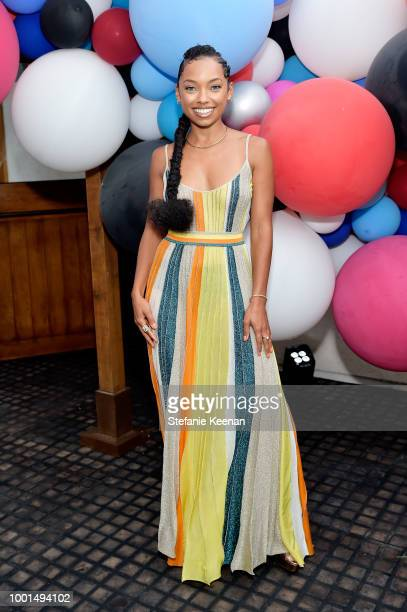 Logan Browning attends David Yurman Pinky Ring Event on July 18 2018 in Los Angeles California