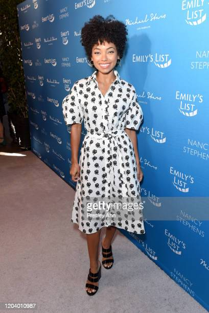 """Logan Browning attends EMILY's List Brunch and Panel Discussion """"Defining Women"""" at Four Seasons Hotel Los Angeles at Beverly Hills on February 04,..."""