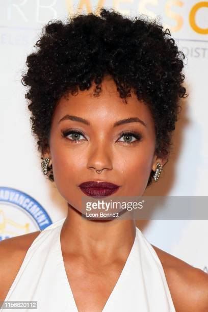 Logan Browning attends the 28th Annual NAACP Theatre Awards at Millennium Biltmore Hotel on June 17 2019 in Los Angeles California