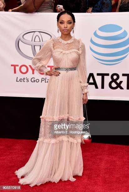 Logan Browning attends the 49th NAACP Image Awards at Pasadena Civic Auditorium on January 15 2018 in Pasadena California