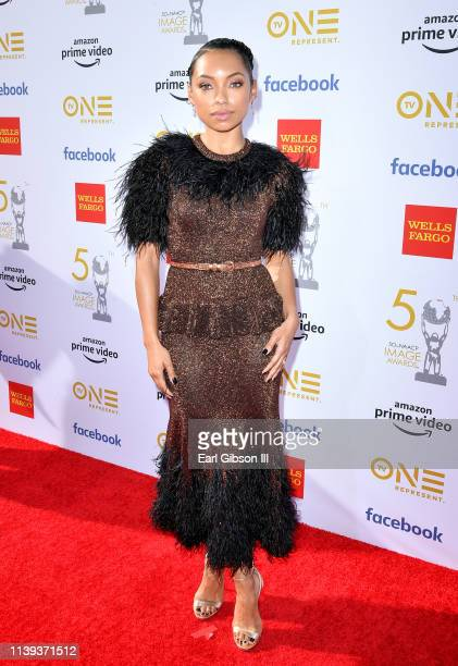 Logan Browning attends the 50th NAACP Image Awards at Dolby Theatre on March 30 2019 in Hollywood California