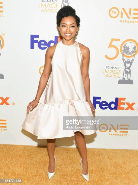 Logan Browning attends the 50th NAACP Image Awards Nominees Luncheon at Loews Hollywood Hotel on March 09 2019 in Hollywood California