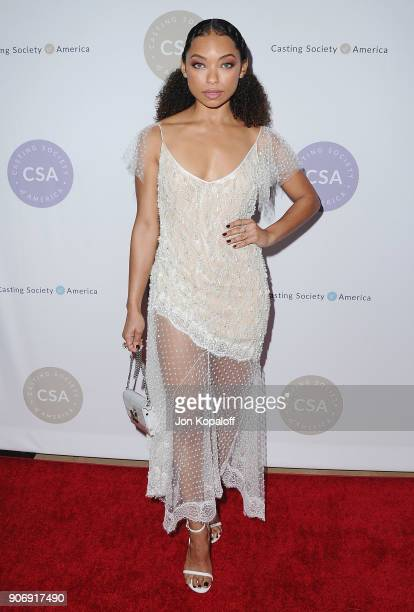 Logan Browning attends the Casting Society Of America's 33rd Annual Artios Awards at The Beverly Hilton Hotel on January 18 2018 in Beverly Hills...