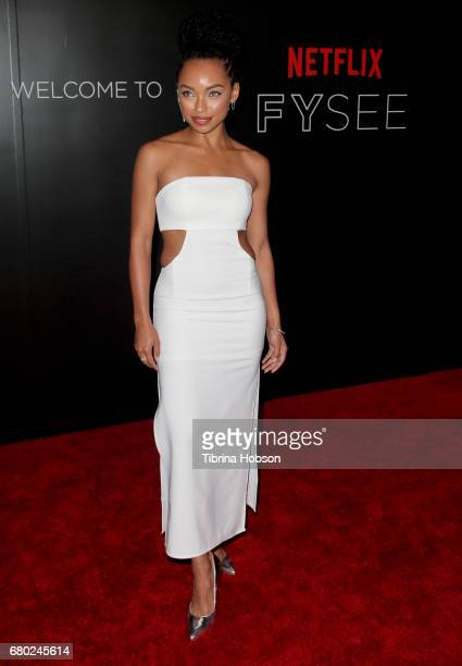 Logan Browning attends the Netflix FYSEE KickOff event at Netflix FYSee Space on May 7 2017 in Beverly Hills California