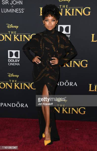 Logan Browning attends the Premiere Of Disney's The Lion King at Dolby Theatre on July 09 2019 in Hollywood California
