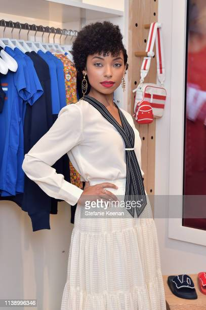 Logan Browning attends Tory Burch The Daily Celebrate Spring with Tory Burch Eau de Parfum at Tory Burch on April 23 2019 in Beverly Hills California