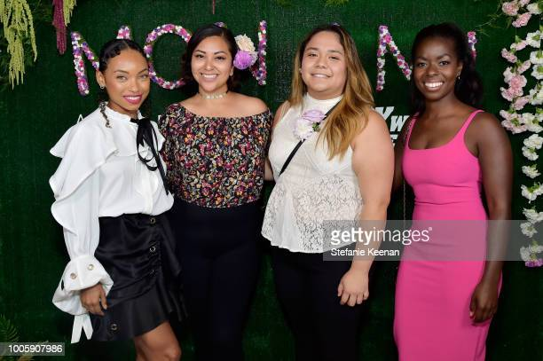 Logan Browning Camille Winbush and guests attend Adina Reyter Friendship Bracelet Launch at Soho House on July 26 2018 in West Hollywood California