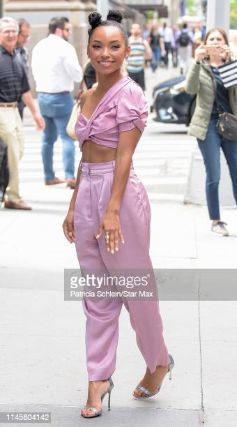 Logan Browning is seen on May 23, 2019 in New York City.