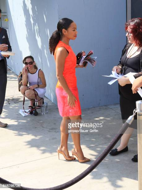 Logan Browning is seen on September 16 2017 in Los Angeles California