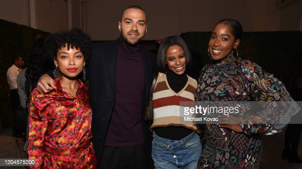 Logan Browning Jesse Williams Taylour Paige and Ashley Blaine Featherson attend Grey Goose Toasts To A Year Of Victorious Filmmaking at The MACRO...