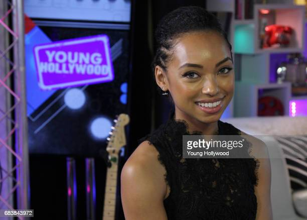 Logan Browning visits the Young Hollywood Studio on May 9 2017 in Los Angeles California