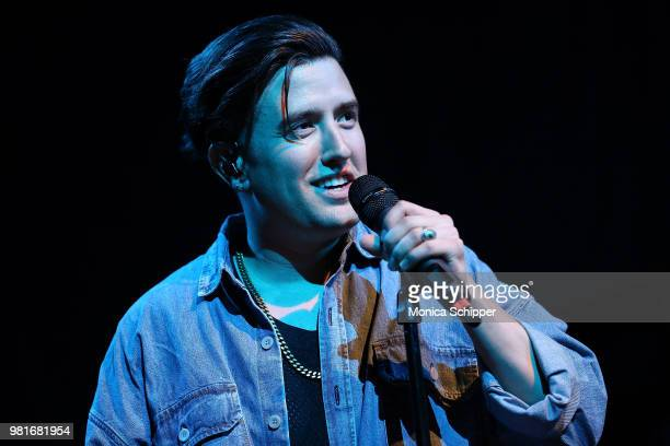 Logan Henderson performs on stage at Gramercy Theatre on June 22 2018 in New York City