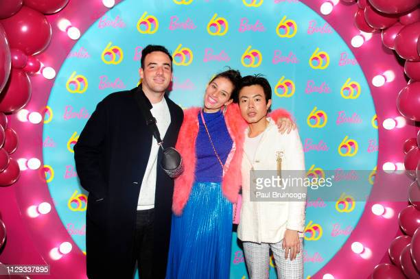 Logan Horne Amirkh Kassem and Ezra Williams attend Barbie's 60th Anniversary at 505 Broadway on March 8 2019 in New York City