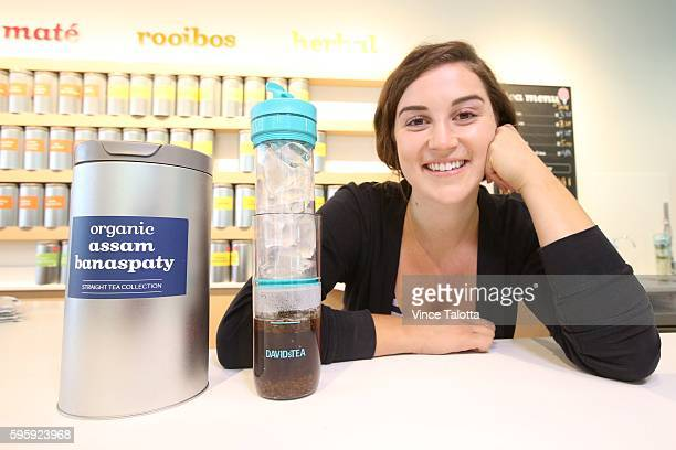 Logan Klassen, store manager at David's Tea poses with ice tea in ice tea press at the store on Queen St., Feature on huge growth of cold beverage...
