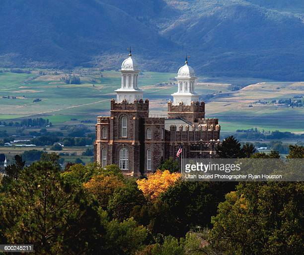 Logan LDS Temple Early Fall