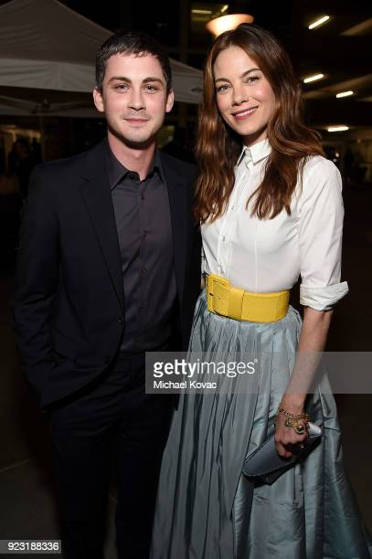 Logan Lerman and Michelle Monaghan attend the Los Angeles Special Screening of 'The Vanishing of Sidney Hall' on February 22 2018 in Los Angeles...