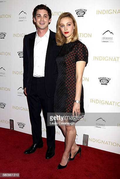 Logan Lerman and Sarah Gadon attend Indignation New York Premiere at Museum of Modern Art on July 25 2016 in New York City