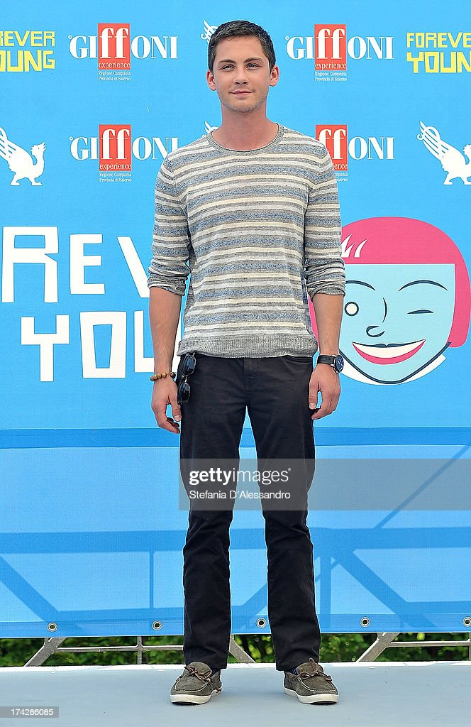 Logan Lerman attends 2013 Giffoni Film Festival photocall on July 23, 2013 in Giffoni Valle Piana, Italy.