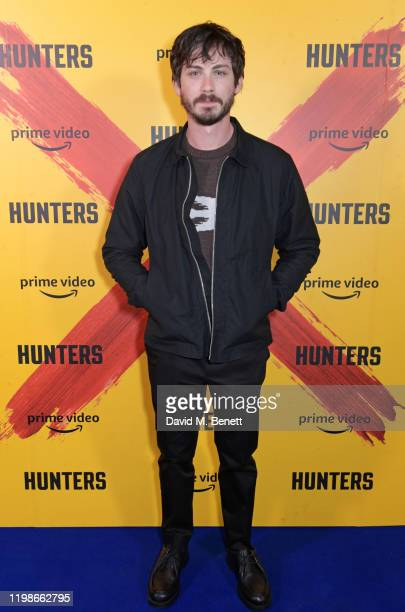 Logan Lerman attends a screening and QA for Amazon Prime Video's upcoming Original series Hunters at Curzon Soho on February 4 2020 in London England