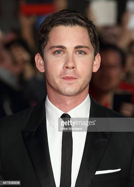 Logan Lerman attends the closing night Gala screening of Fury during the 58th BFI London Film Festival at Odeon Leicester Square on October 19 2014...
