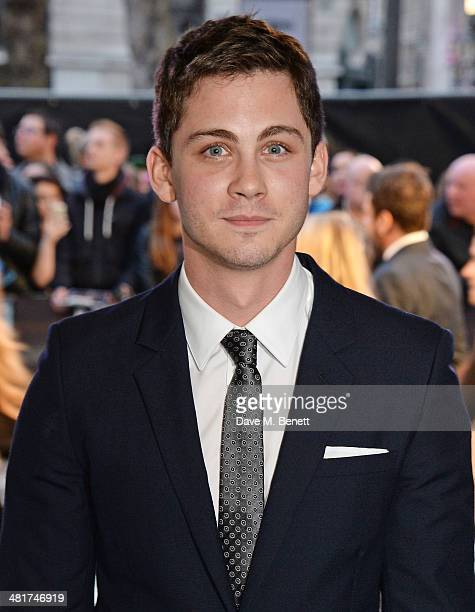 Logan Lerman attends the UK Premiere of 'Noah' at Odeon Leicester Square on March 31 2014 in London England