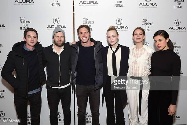 Logan Lerman Shawn Christensen Blake Jenner Elle Fanning Michelle Monaghan and Margaret Qualley attend the 'Sidney Hall' Party at the Acura Studio at...