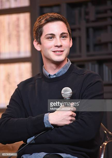 Logan Lerman speaks at the Cinema Cafe at Filmmaker Lodge on January 25 2017 in Park City Utah
