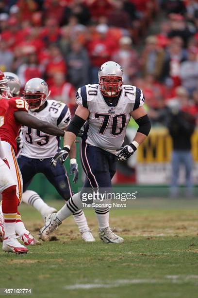 Logan Mankins of the New England Patriots in action during a game against the Kansas City Chiefs on November 27, 2005 at Arrowhead Stadium in Kansas...