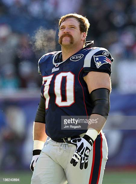 Logan Mankins of the New England Patriots leaves the field before a game with the Miami Dolphins at Gillette Stadium on December 24, 2011 in Foxboro,...