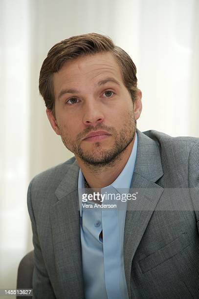 Logan MarshallGreen at the 'Prometheus' Press Conference at Claridge's Hotel on May 30 2012 in London England