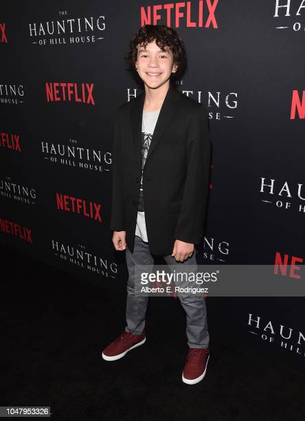 Logan Medina attends the premiere of Neflix's 'The Haunting Of Hill House' at ArcLight Hollywood on October 8 2018 in Hollywood California