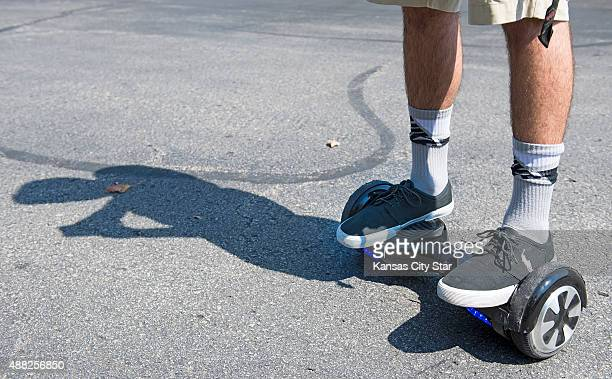 Logan Meis balances on his hover board outside his apartment complex in Overland Park Kan on Friday Sept 4 2015 Meis purchased the personal...