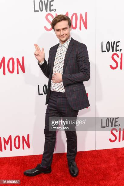 "Logan Miller attends Special Screening Of 20th Century Fox's ""Love, Simon"" - Arrivals at Westfield Century City on March 13, 2018 in Century City,..."
