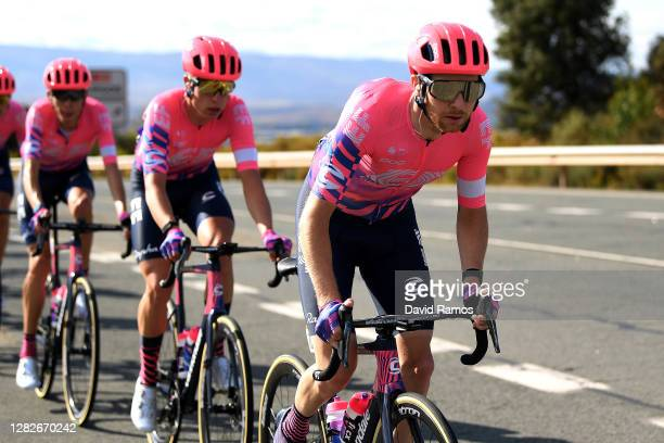 Logan Owen of The United States and Team EF Pro Cycling / Julius Van Den Berg of The Netherlands and Team EF Pro Cycling / during the 75th Tour of...