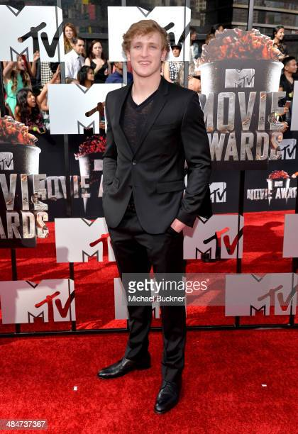 Logan Paul attends the 2014 MTV Movie Awards at Nokia Theatre LA Live on April 13 2014 in Los Angeles California