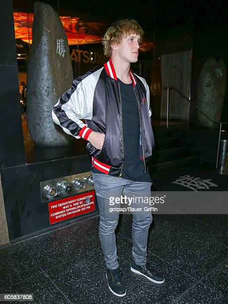Logan Paul is seen on September 14 2016 in Los Angeles California