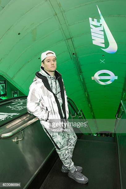 Logan Sama attends NikeLab x Roundel launch at Charing Cross underground Station on November 9 2016 in London England