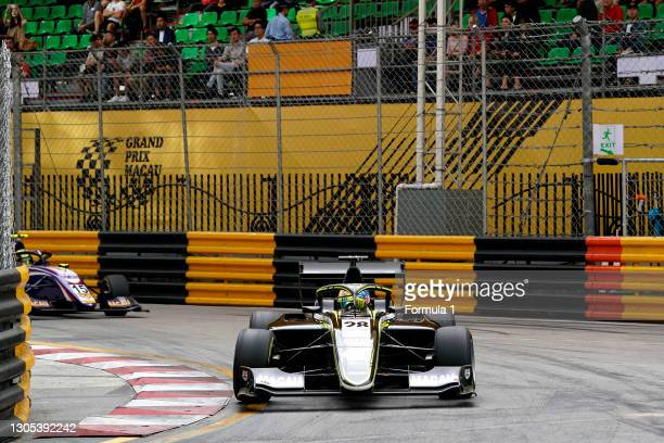 Logan Sargeant, Carlin Buzz Racing during the Macau GP at Circuito da Guia on November 16, 2019 in Circuito da Guia, Macau.