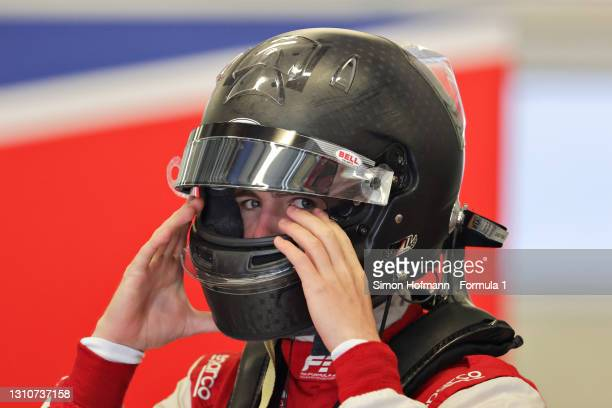 Logan Sargeant of United States and Charouz Racing System prepares to drive during Day Two of Formula 3 Testing at Red Bull Ring on April 04, 2021 in...