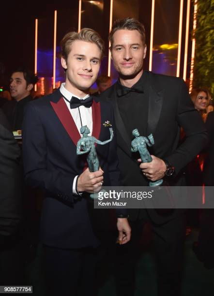 Logan Shroyer and Justin Hartley attend People and EIF's Annual Screen Actors Guild Awards Gala sponsored by TNT and L'Oreal Paris at The Shrine...