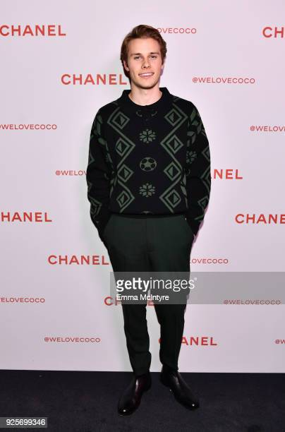 Logan Shroyer attends a Chanel Party to celebrate the Chanel Beauty House and @WELOVECOCO at Chanel Beauty House on February 28 2018 in Los Angeles...