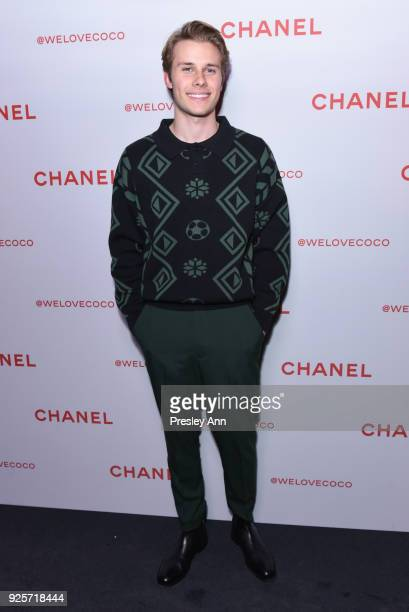 Logan Shroyer attends Chanel Party to Celebrate the Chanel Beauty House and @WELOVECOCO on February 28 2018 in Los Angeles California