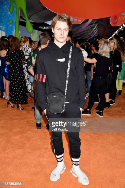 Logan Shroyer attends Nickelodeon's 2019 Kids' Choice Awards at Galen Center on March 23 2019 in Los Angeles California